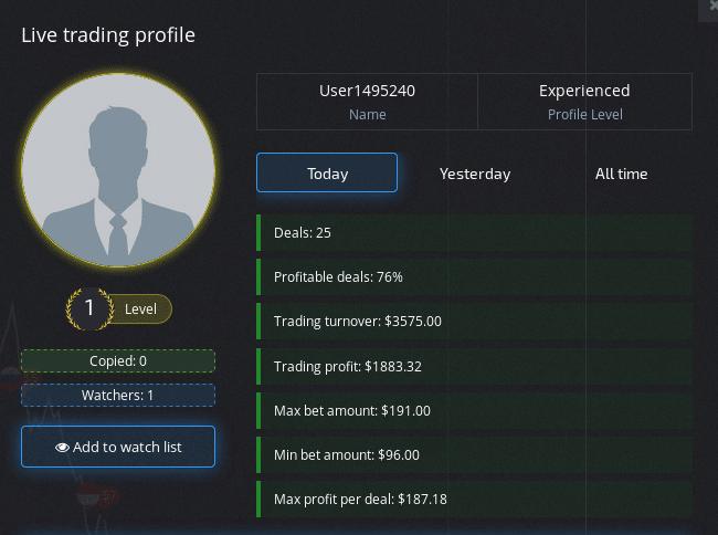 Scheda social trading